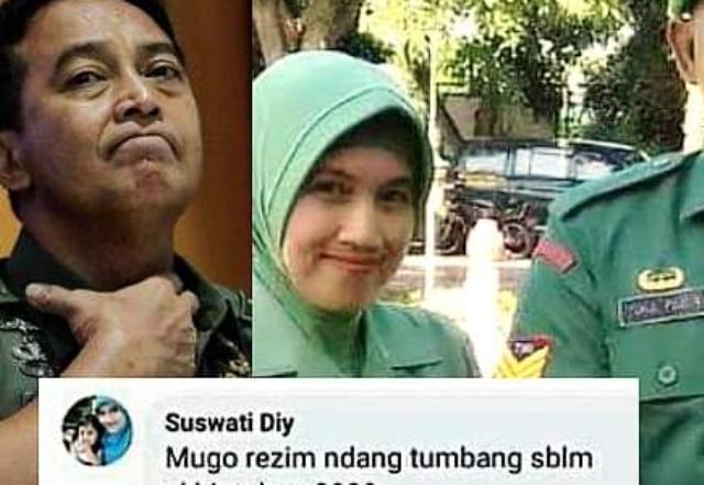 Viral! Istri Anggota TNI AD Hina Pemerintah, Suami Dijatuhi Hukuman Disiplin