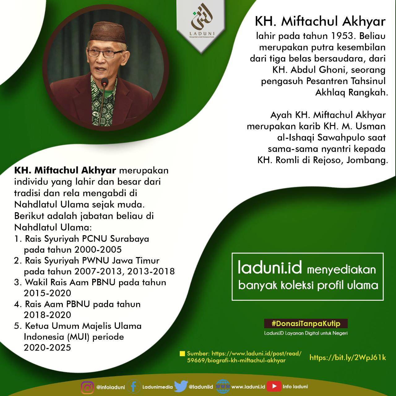 Biografi KH. Miftachul Akhyar
